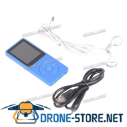 8GB 70 Hours Playback MP3 Lossless Sound Music Player Blue