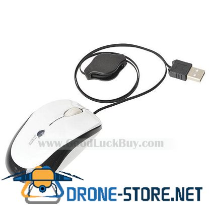 Mini Retractable USB Optical Scroll Mouse for PC Laptop