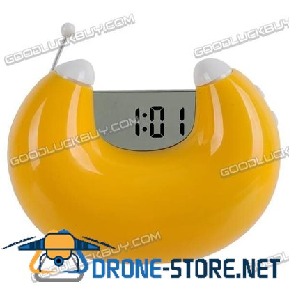 Alarm LCD Clock with Date and FM Radio (PGP306) Yellow