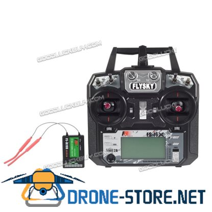 Flysky FS-i6X 10CH 2.4G AFHDS 2A RC Transmitter With FS-iA10B Receiver for Drone