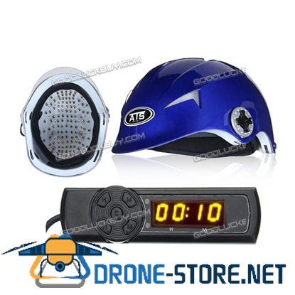128 Diodes Laser Hair Loss Treatment Regrowth Promoter Cap Helmet Therapy Timer Blue