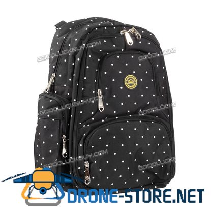 Nappy Mother Mummy Backpack Diaper Bags Baby Newborn Pad Changing Shoulder Bag Black