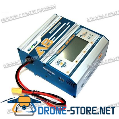 EV-PEAK 1350W 45A Fast LiPo Battery DC Balance Charger with A8 Touch Screen
