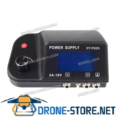 Digital Dual Machine Tattoo Power Supply LCD Display with Clip Cord