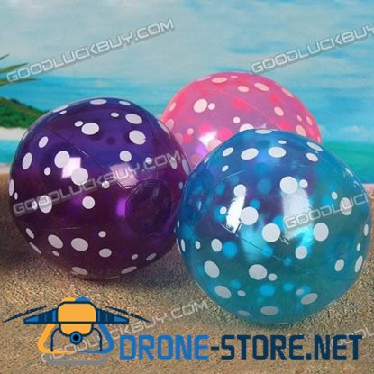 "9"" Inflatable Toy Beach Ball Inflate Pool Happy Spotted Ball (2-Pack)"