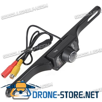 Wireless 7-LED Waterproof Night Vision Rear View Camera for Car GPS Black(WX700EBS)