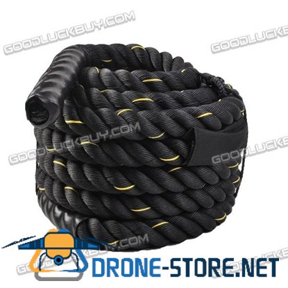 "2"" Poly Dacron 50ft Battle Rope Exercise Workout Strength Training Undulation"