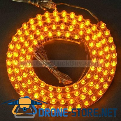 1.2M Flexible Strip Yellow PVC 120 LED NEON Light Lamp