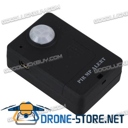 Infrared Sensor Alarm Security Alarm with Operating Frequency 850MHZ 900MHZ 1800MHZ 1900MHZ -Black