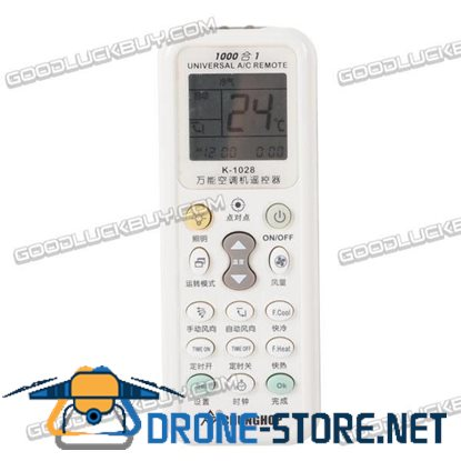Chunghop Universal 1000 in 1 Air-conditioner AC Remote Control K-1028E with Flashlight
