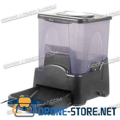 10.65L Large LCD Display Electronic Automatic Pet Feeder Dispenser for Dog Cat Black