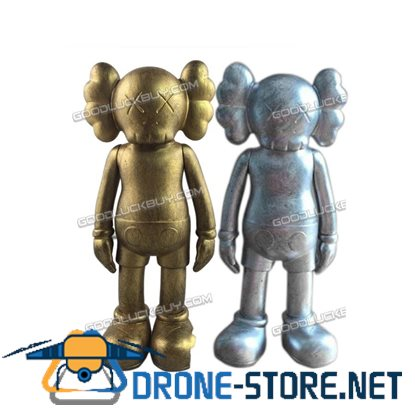 "2Pcs 8"" KAWS Full Dissected Companion Complete Action Figures Toy Gold & Silver"