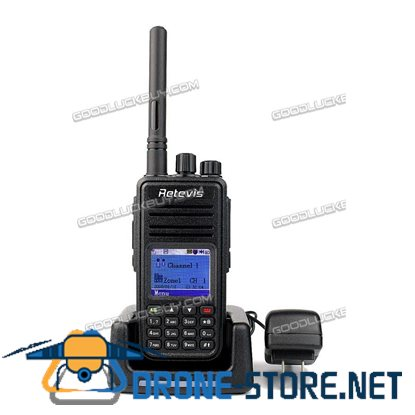 Retevis RT3 Digital Two Way Radio Walkie Talkie UHF 400-480MHz 5W 1000 Channels + Cable