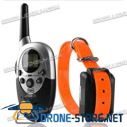 1000M LCD Waterproof Rechargeable Remote Control Shock Pet Dog Training Collar Orange