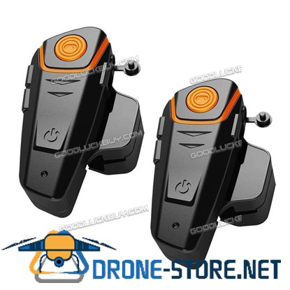 BT-S2 Bluetooth 1000M Intercom Motorcycle Helmet Headset FM Radio Earpieces 2pcs