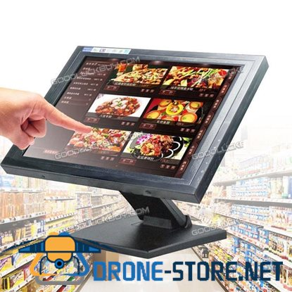 "15"" Touch Screen LED TouchScreen Monitor Retail Kiosk Restaurant Bar"
