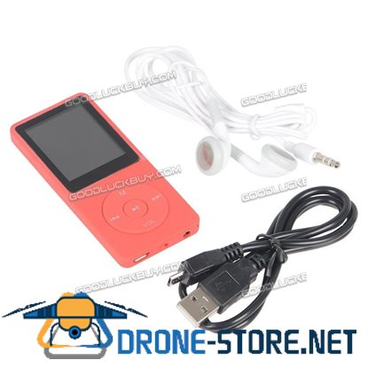 8GB 70 Hours Playback MP3 Lossless Sound Music Player Red