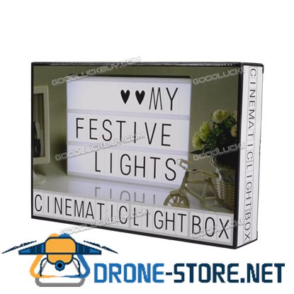 A4 Cinematic Light Box Cinema LED Letter Lamp House Party Wedding Xmas Decoration