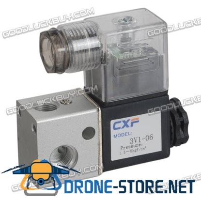 DC 24V 4.8W Two Position Three Way Pneumatic Control Air Solenoid Valve 3V1-06