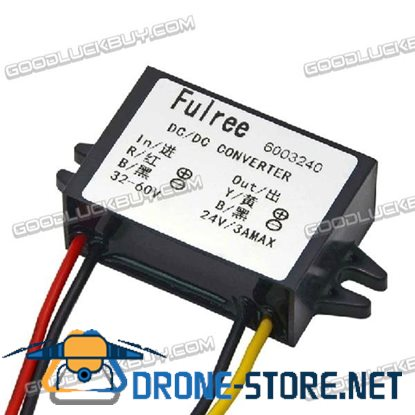 Fulree DC 32-60V to DC 24V 3A Converter for Storage Battery Power Supply