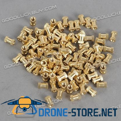 H62 Brass Knurl Nuts M3*8*5 Metric Threaded 100pcs/Pack
