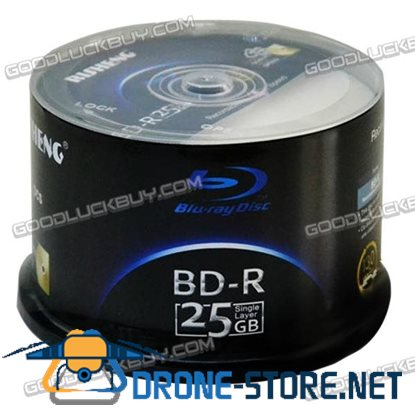 50* RS Black Series Blue-ray Printable Disc BD-R25G 25G 8X Burn Blank Disk 50pcs/Pack