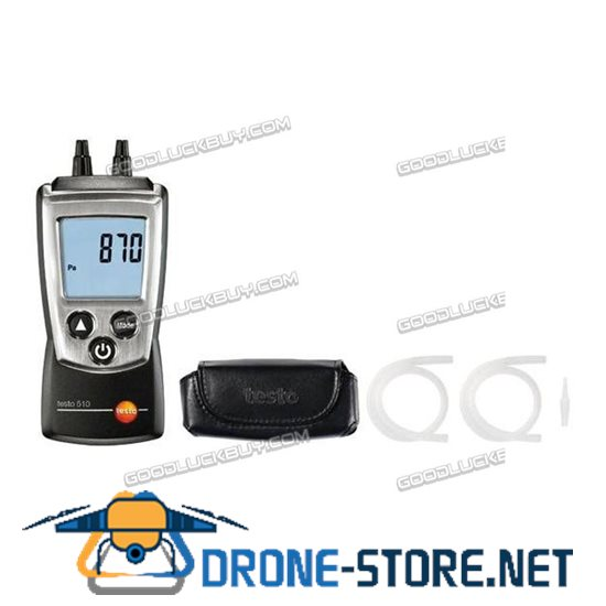Testo 510 Autoranging Differential Manometer Air Pressure Meter Gauge 0-100hPa