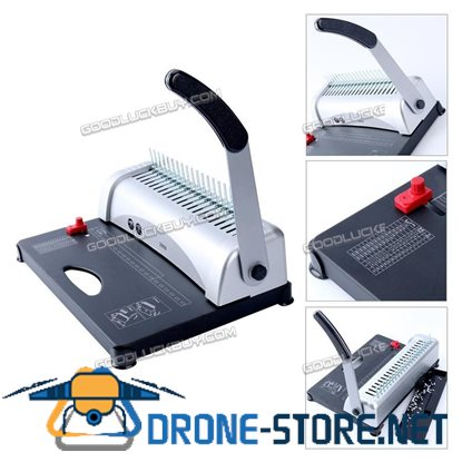 YaeKoo 21 Hole 450 Sheets Paper Comb Punch Binder Binding Machine Scrapbook