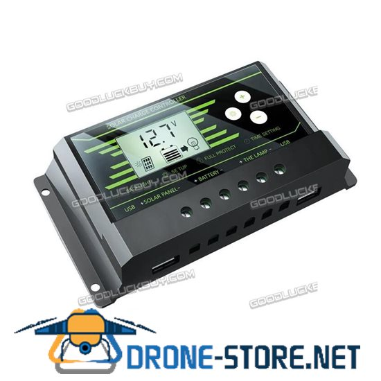 30A Y-SOLAR Z30 Backlit LCD Solar Charge Controller w/ Dual USB 5V Charger