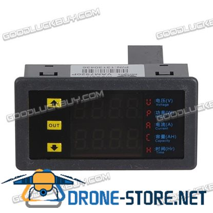 VAM7520P Upgrade Dual Digital Display Multifunction Voltmeter Ampere Meter
