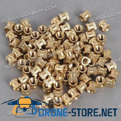 H62 Brass Knurl Nuts M4*6*6 Metric Threaded 100pcs/Pack