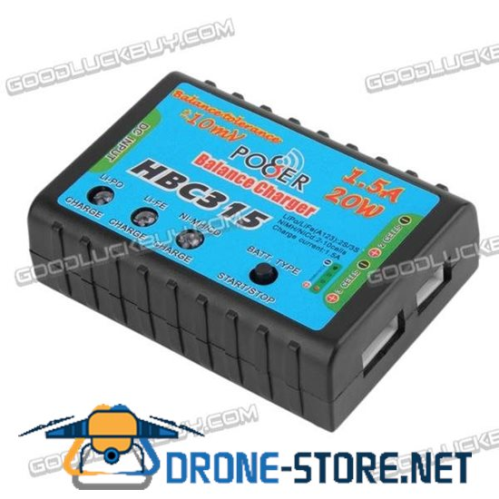1.5A 20W Mini Balancer Charger Battery Charging HBC315 for 2-3S 2S 3S Cells LiPo Battery