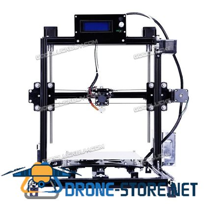 New 20*20CM Flsun Prusa I3 3D Printer Auto Leveling Heated Bed w/ 2 Filament Black