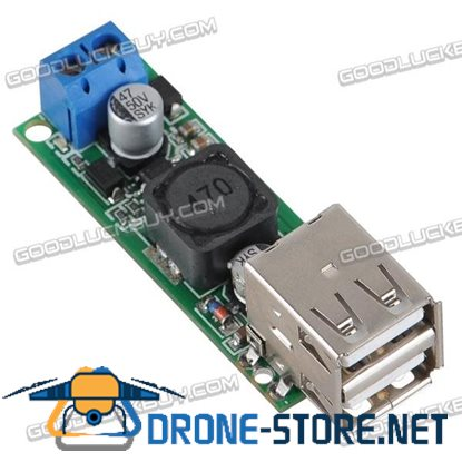 6-35V to 5V 3A DC/DC Power Converter Voltage Regulation Module Dual USB Port