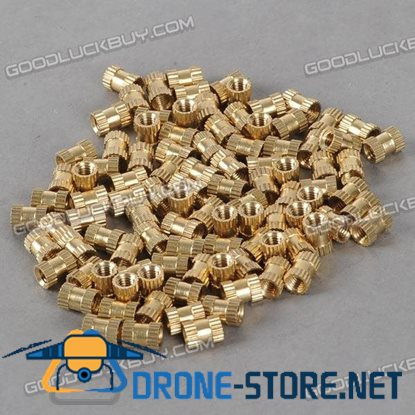 H62 Brass Knurl Nuts M4*8*6 Metric Threaded 100pcs/Pack