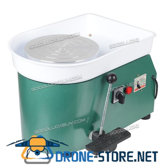 250W Electric Pottery Wheel Pottery Machine Ceramic Clay 25cm Throwing Machine Green