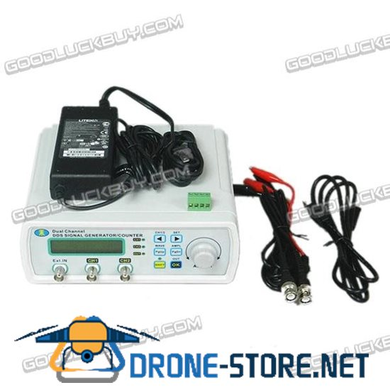 MHS-3200P+ 12M 0-5MHz Dual Channel Full Digital Control Function Signal Generator DDS Signal Source Frequency Meter
