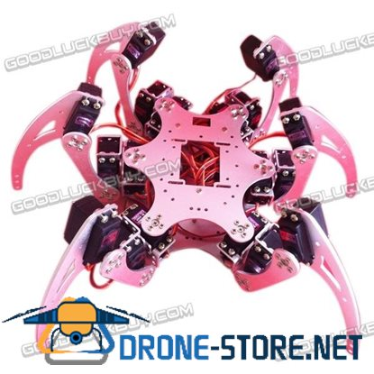 18DOF Six-feet 6Legged Intelligent Robot Spider Metal Frame Kit Silver