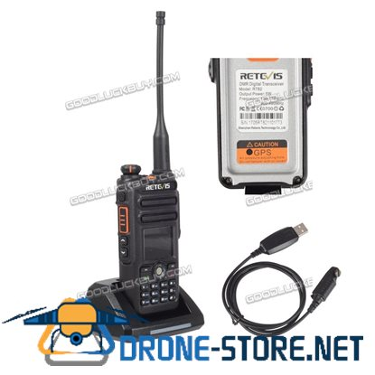 GPS DMR-Funkgeräte Retevis RT82 Dual Band 2m/70cm 3000CH Walkie Talkie+USB Cable