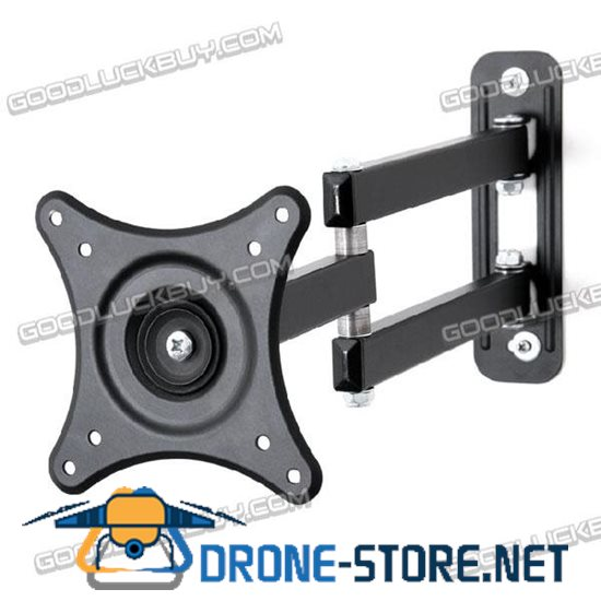 Loctek 17-27'' Retractable Wall Mount Bracket Support for LCD Television Monitor