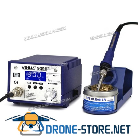 Digital Professional YIHUA 939D+ Soldering Station 75W PID Control 3 Speed-dial ESD