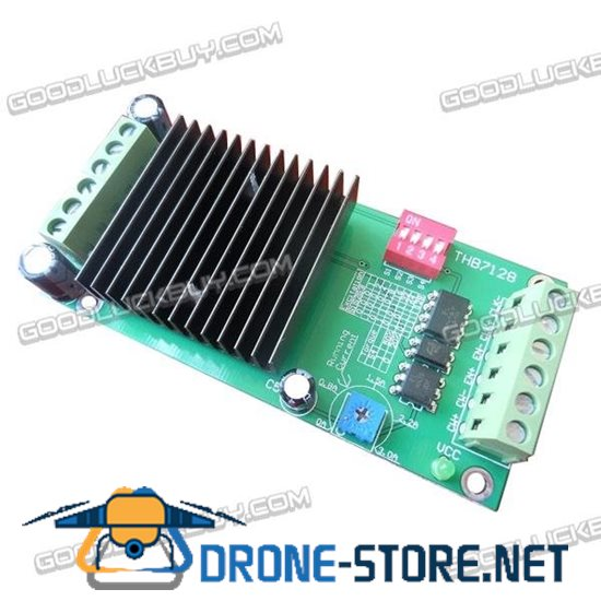 THB7218 3A Stepper Motor Driver Controller w/Heat Sink for 42/57 Two-phase Stepper Motor