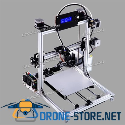New 20*20CM Flsun Prusa I3 3D Printer Auto Leveling Heated Bed w/ 2 Filament Silver