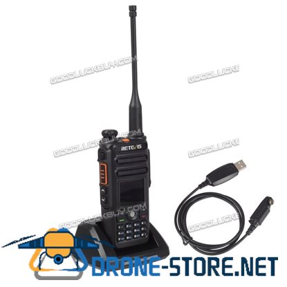 DMR-Funkgeräte Retevis RT82 Dual Band IP67 Wasserdicht+USB+Batterie-Eliminator