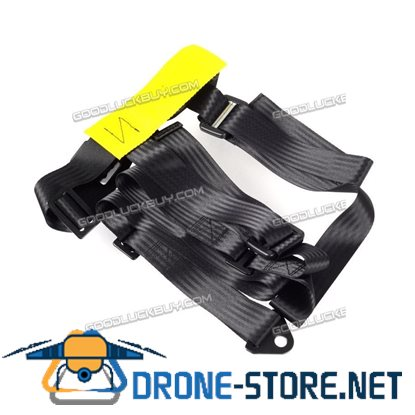 One Pair Of Black 3 Point Racing Seat Belt Harnesses For Car/Off Road/4x4 Harness