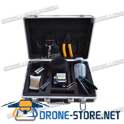 FTTH Fiber Optic Cold Connection 11pcs Tools Kit Case