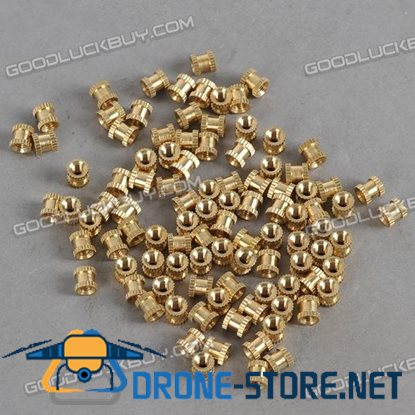 H62 Brass Knurl Nuts M3*5*5 Metric Threaded 100pcs/Pack