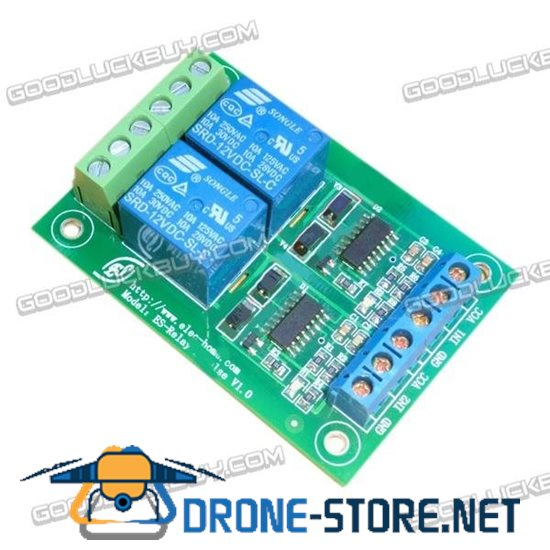 12V Dual Way Remote Control Pulse Relay Module with LED Indicator