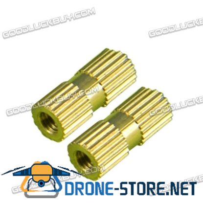H62 Brass Knurl Nuts M3*12*5 Metric Threaded 100pcs/Pack