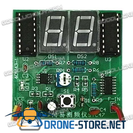1-99HZ Square Wave Signal Simple Frequency Measuremeter Board DIY Electronics Kit